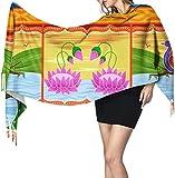 Vector Design Floreale Kitsch Indiano Grande Leggero Sciarpa Inverno Cashmere Sciarpa Per Gli Uomini Sciarpa Da Viaggio Leggero 196x68cm Grande Morbido Pashmina Extra Caldo