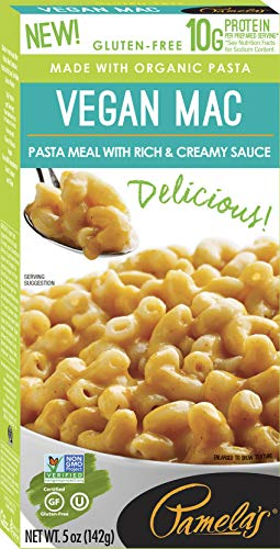 Pamela's Products Gourmet Gluten Free High Protein Vegan Mac & Cheese Pasta Meal, 12 Count