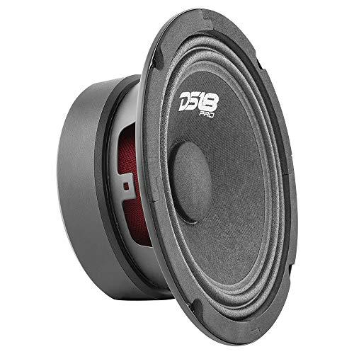 DS18 PRO-GM6.4 Loudspeaker - 6.5 , Midrange, Black Steel Basket, 480W Max, 140W RMS, 4 Ohms - Premium Quality Audio Door Speakers for Car or Truck Stereo Sound System (1 Speaker)