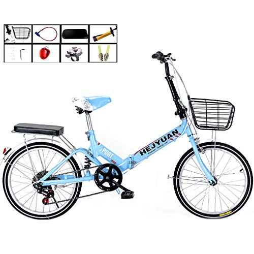 Best Deals! AOHMG 20'' Folding Bike for Adults Lightweight, 7-Speed Steel Frame Unisexe Compact Comm...