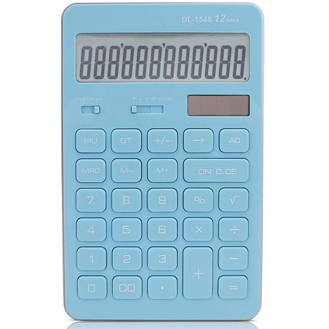 葬儀恐ろしい薬を飲む電卓 太陽の電卓のビジネスオフィスかわいい電卓 準関数電卓スクールオフィス (色 : 青)