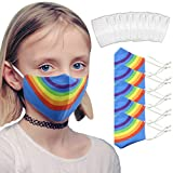 Wokee 5 Piezas Reutilizables Bufandas para niños 10 Piezas Filtro,Bebé Tela Lavable de Algodón Suave...