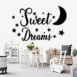 Estilo europeo dulce sueño sueño arte vinilo pegatinas de pared habitación de los niños decoración del hogar arte mural pegatinas de pared A5 M 28x44cm