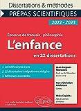 L'enfance en 22 dissertations: Jean-Jacques Rousseau, Emile ou de l'éducation (Livres I et II) ; Hans Christian Andersen, Contes ; Wole Soyinka, Aké, les années d'enfance