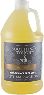Soothing Touch، Fragrance Free Lite Massage Oil، 1/2 Gallon (64oz)