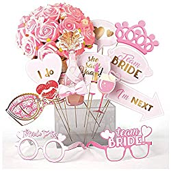 """💛👰Original Design - Love rose, champagne, crown, bra, heart shape, lipsticks, big kiss, glasses of """"Bride To Be"""" and """"Team Bide"""", I do, She said yaaas, and more. 💛👰Great for his or her wedding celebration, team bride, hen party, hens nights, bachelor..."""