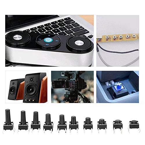 Micro Momentary Tact 10W Flick Interrupter Kits Kit de interruptor de tacto portátil Estabilizador de voltaje profesional IC 200PCs Control remoto resistente al desgaste(2009cs)