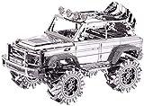 piececool Puzzle 3D de metal para adultos, modelo de avión off-road, 157 piezas, maqueta de metal para adultos