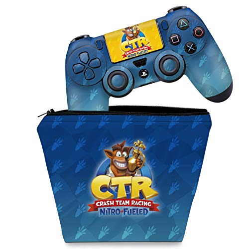Capa Case e Skin Adesivo PS4 Controle - Crash Team Racing CTR