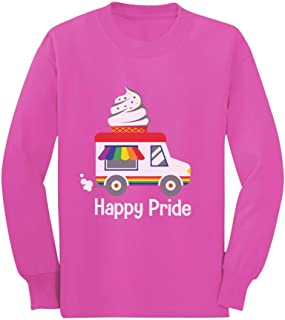 Rainbow LGBT Ice Cream Truck Pride Flag Toddler/Kids Long Sleeve T-Shirt