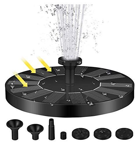 CZX Bomba de la charca Solar, Fuente de baño de Aves con 4 boquillas, 7V / 1.4W Bomba de Agua de Fuente de energía Solar Flotante, para Piscina, Estanque de Peces, jardín