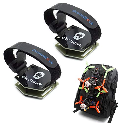 2 Set FPV Drone Lock Mount for Backpack Plug-in Accessories DIY Bundle Mount Hanging Buckle with Battery Straps for FPV Quadcopter