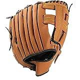 EElabper Guante de béisbol Guante del Softball de 11,5 Pulgadas Engrosamiento de la Jarra del Guante del Softball con cremoso de Cuero de la PU para los Adolescentes M Brown