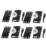 Set de ruedas para puerta corredera de armario de 4 unidades, rueda de 30 mm de diámetro de color blanco