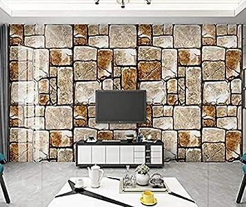 Papel pintado 3D Mural de pared de bloques de madera Efecto 3D para murales de sala de estar y dormitorio papel pintado pared dormitorio de estar sala de estar fondo No tejido-400cm×280cm