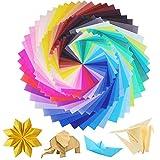 Carta da Origam - WENTS 150 Fogli 3 Misure 50 Colori Chiari Origami Lato Singolo Per Carta Pieghevole Per Bambini Progetti Artistici e DIY Origami Creativi