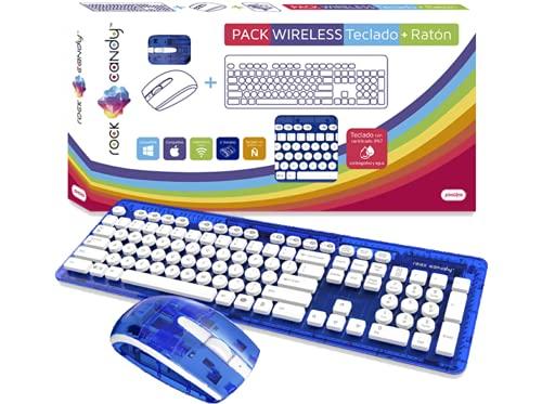 PDP - Tastatur + Maus Rock Candy Wireless blau - Spanische Tastatur