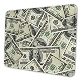 Mouse Pad 100 Dollar Money Gaming Mousepad with Stitched Edges Non-Slip Rubber Base for Computers Laptop Office & Home