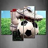 HOMEDCR Gerahmte Wandkunst Bilder Sporter Fußball