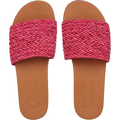 Roxy Paisley Braided Slide Sandal, Glissante Femme, Fuchsia, 42 EU