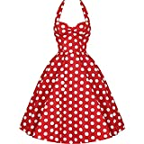 F-pump Women Polka Dot Dress Big Swing Vestidos Retro Robe Casual Prom Rockabilly Party Pinup Vintag...