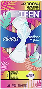 56-Count Always Radiant Heavy Feminine Pads with Wings
