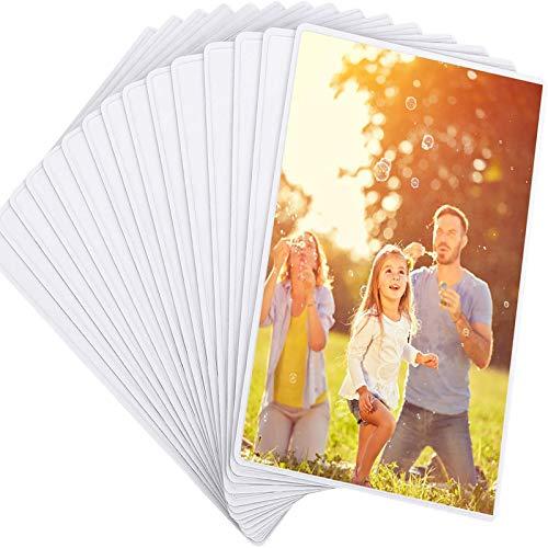 Magicfly Cornice Foto 10x15cm (4x6 Polici), 15 PCS Cornice Magnetica Cornice Piccola Cornice Bianca per Frigo, Colore Bianco