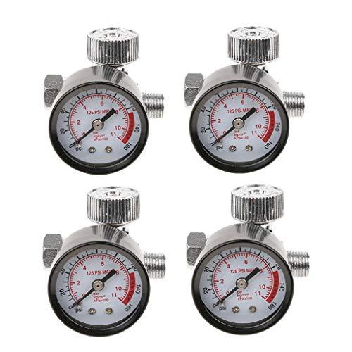 Homyl 4X Régulateur de compresseur d'air Manomètre Interrupteur de Pression