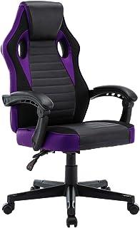 play haha. Chaise de bureau pivotante de style course pour ordinateur - Chaise de conférence ergonomique avec soutien lomb...
