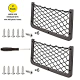 RV & Car Net Storage Mesh - Framed Cargo Netting Pocket 2Pcs Large Black Elastic Nylon Organizer