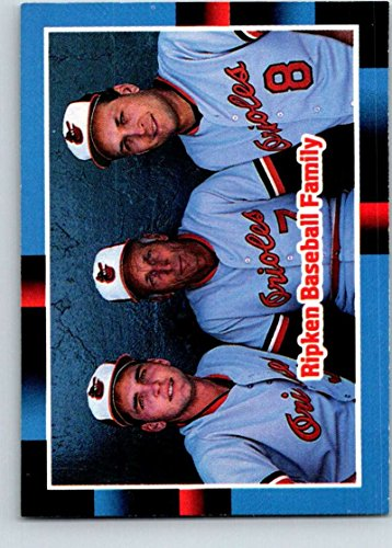 Baseball MLB 1988 Donruss #625 Billy Ripken/Cal Ripken Sr./Cal Ripken Jr. #625 The Ripken Family NM Orioles
