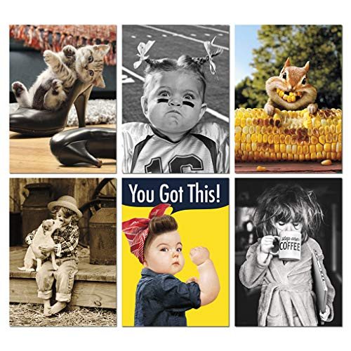 Avanti Press Encouragement and Friendship Greeting Card Variety Pack, 6-Count, Model Number: 32090