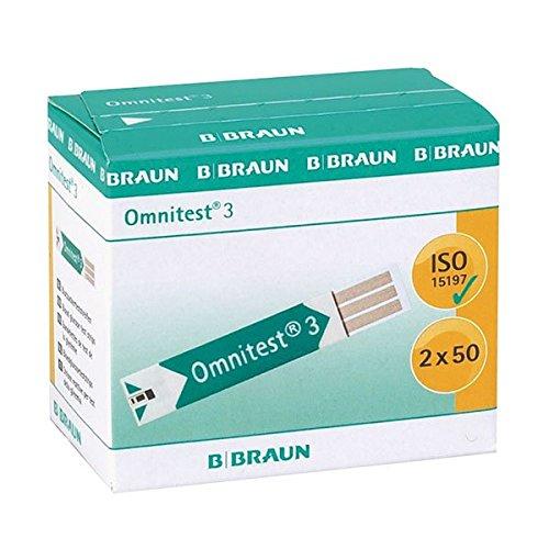 Omnitest 3 9332731 Blutzucker Sensoren Teststreifen (100-er Pack)
