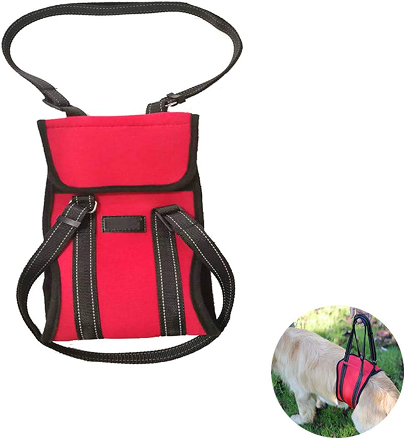 Dog Support & Rehabilitation Harness with Stay On Straps,Ideal for Aging, Disabled, Or Injured Dogs Needing Assistance with Their Balance and Mobility(Red),L