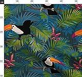 Tukan, Blätter, Pflanzen, Tropisch Stoffe - Individuell