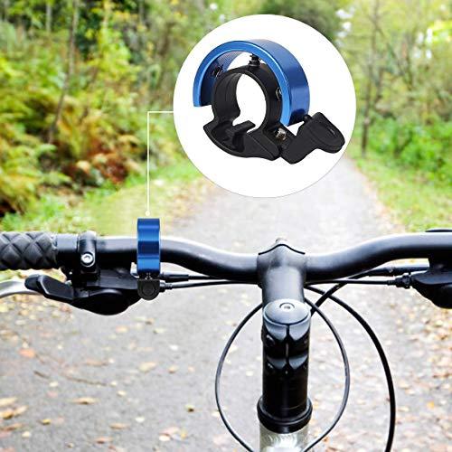 Sxspace 5X Fietsbel, aluminiumlegering O-design Innovatieve fietsring, helder geluid fietsbel, deur van 22,2 tot 31,8 mm