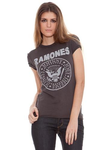 Amplified Camiseta Print Vintage Ramones Carbón XS