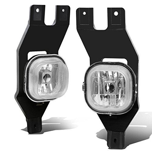 Replacement for Ford Super Duty/Excursion Pair of Bumper Driving Fog Lights (Clear Lens)