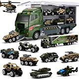 Coolplay Camión militar 10 en 1 para niños, niños y niñas