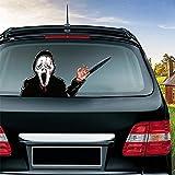 whmyz Halloween-Serie Auto Aufkleber Heckscheibe Abziehbilder Auto Dekoration Winken Wischer Aufkleber Auto Styling Heckscheibe Aufkleber-Scream Killer