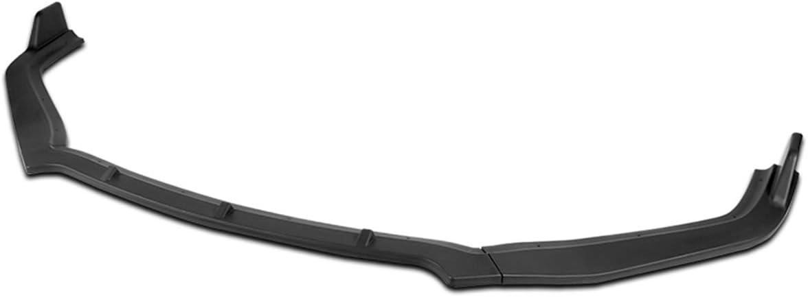 3Pcs CS Style Matte Regular Fresno Mall dealer Black Front Chin Lip Spoiler Splitter Bumper