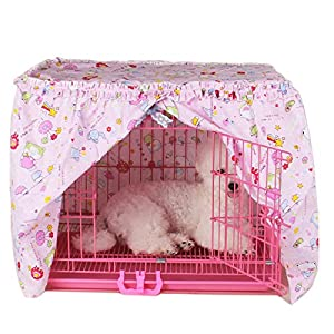 Alfie Pet - Cyrille Pet Crate Cover - Color: Pink, Size: XS