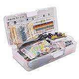 Fansport El Kit De Componentes ElectróNicos Incluye Una Variedad De Resistencias De Condensadores Breadboard Jumper Wire Kit