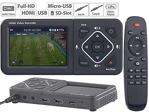 auvisio Videorecorder: HDMI-Video-Rekorder mit Farb-Display, Full HD, USB, SD, 60 Bilder/Sek. (Video digitalisieren)