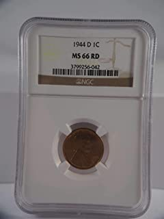 1944 D Lincoln Penny Cent Cent MS 66 NGC