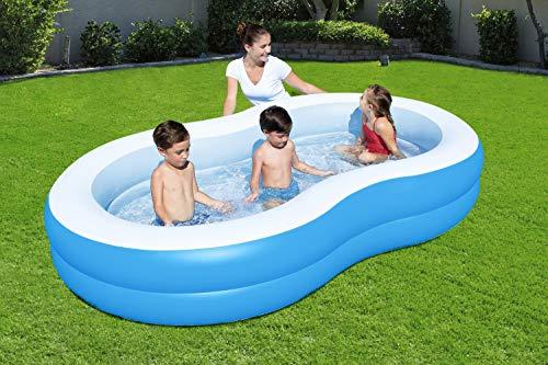 Bestway 54117 Piscine gonflable familiale en huit Big Lagoon De Luxe 262 x 157 x 46 cm