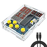 Seamuing Consola de Juegos de Bricolaje Kit de Práctica de Soldadura de Mano Juegos Clásicos con Luz y Estuche para...