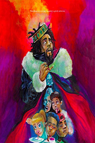 Super Collection Album Cover Poster J. Cole: KOD 12x18 inch Rolled Poster
