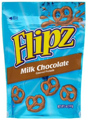 Flipz Los Angeles Mall Pretzels Milk Boston Mall Chocolate 5-Ounce Pack 12 Packages of