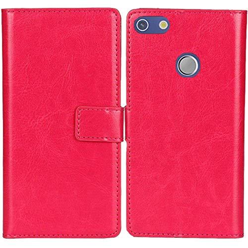 Lankashi PU Leder Tasche Hülle Für jiayu G5 / G5S Handy Flip Brieftasche Schutz Hülle Cover Etui Schutzhülle Klapphülle Handytasche (Farbe: Rosa)